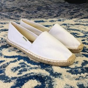 Soludos Espadrille Slip-On White Flat Jute 5.5 New